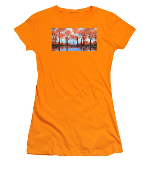 By The Shore Women's T-Shirt (Junior Cut) by Amy Giacomelli