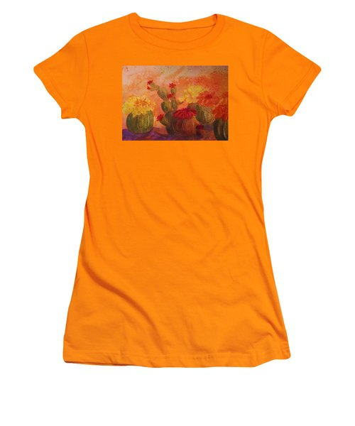 Cactus Garden Women's T-Shirt (Junior Cut) by Ellen Levinson