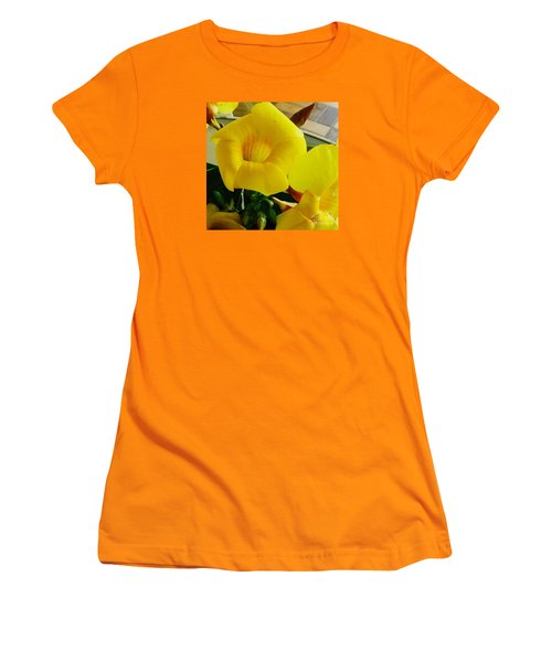 Canario Flower Women's T-Shirt (Junior Cut) by The Art of Alice Terrill