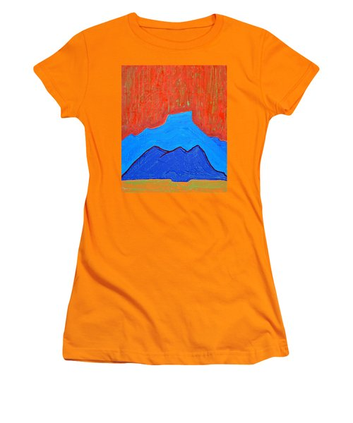Cerro Pedernal Original Painting Sold Women's T-Shirt (Athletic Fit)