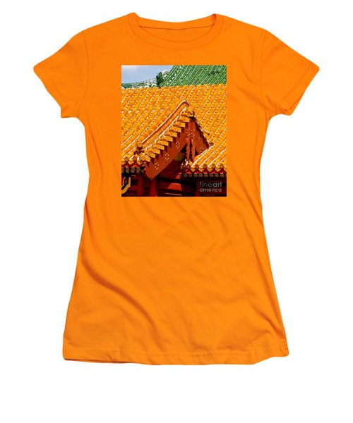 Women's T-Shirt (Junior Cut) featuring the photograph China Pavilion by Joy Hardee
