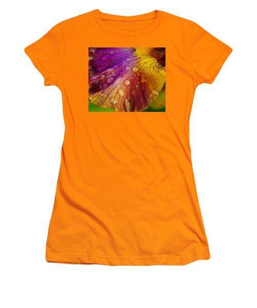 Color And Droplets Women's T-Shirt (Athletic Fit)