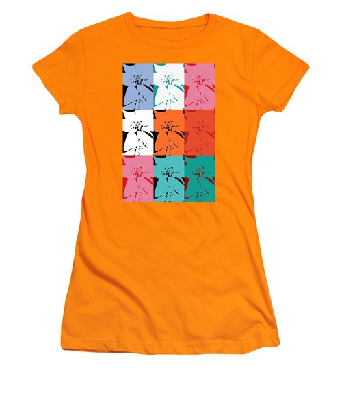 Colorful Flowers  Lily Women's T-Shirt (Athletic Fit)