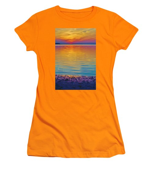 Colorful Lowtide Sunset Women's T-Shirt (Athletic Fit)