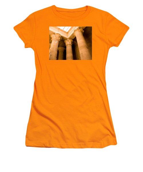 Column Head Art Women's T-Shirt (Athletic Fit)