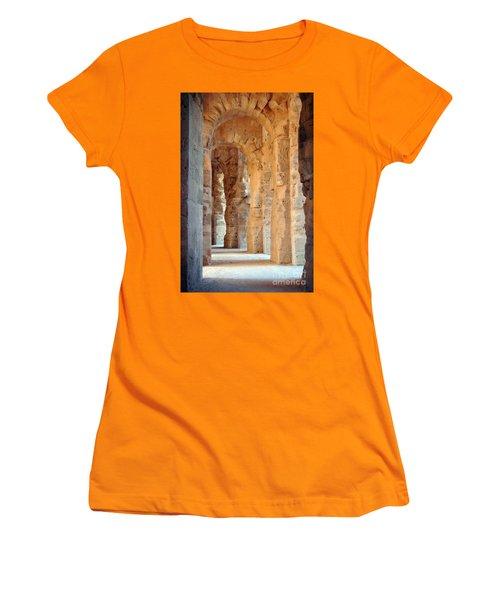 Columns Women's T-Shirt (Junior Cut) by Randi Grace Nilsberg