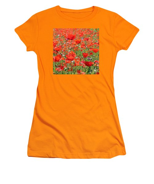 Commemorative Poppies Women's T-Shirt (Athletic Fit)