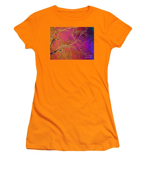 Crackling Branches Women's T-Shirt (Athletic Fit)