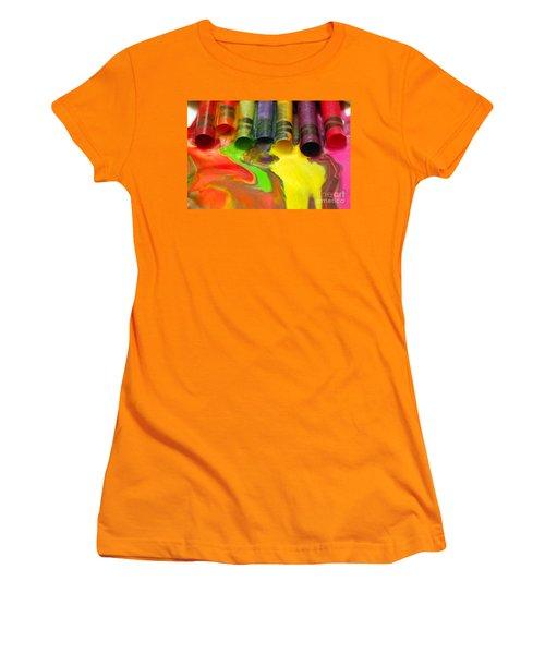 Crayon Cooperation Women's T-Shirt (Junior Cut) by Margie Chapman