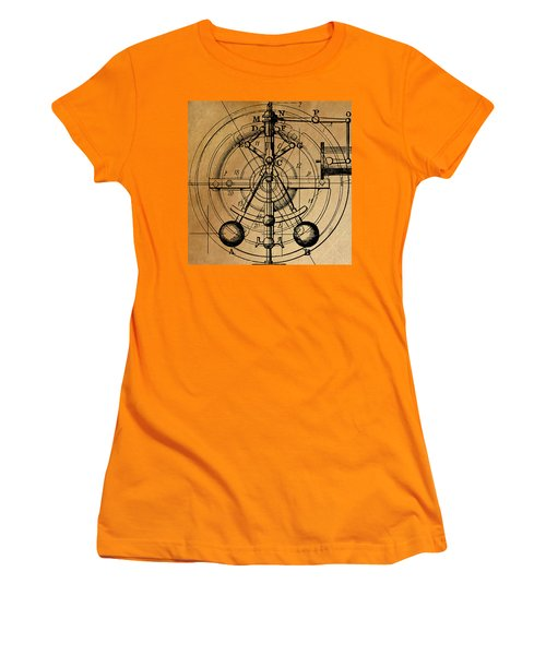 Women's T-Shirt (Junior Cut) featuring the painting Cyclotron by James Christopher Hill