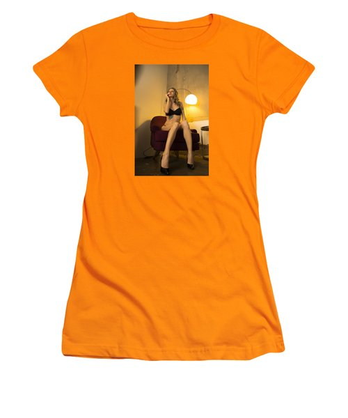 Women's T-Shirt (Junior Cut) featuring the photograph Deep Thoughts 1 by Mez