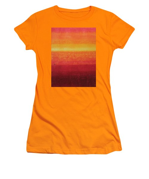 Desert Horizon Original Painting Women's T-Shirt (Athletic Fit)