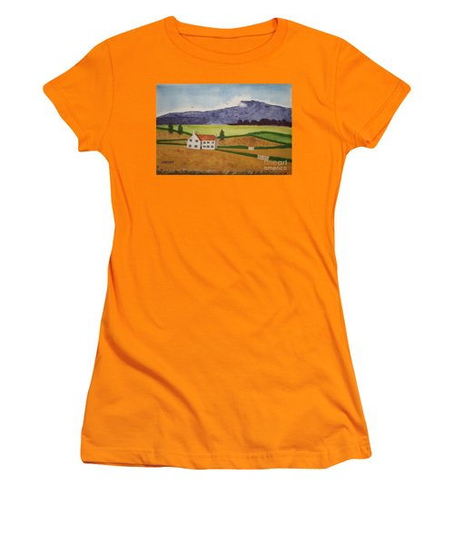 Distant Hills Women's T-Shirt (Junior Cut) by John Williams