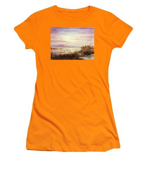 Duck Hunting Companions Women's T-Shirt (Junior Cut) by Bill Holkham