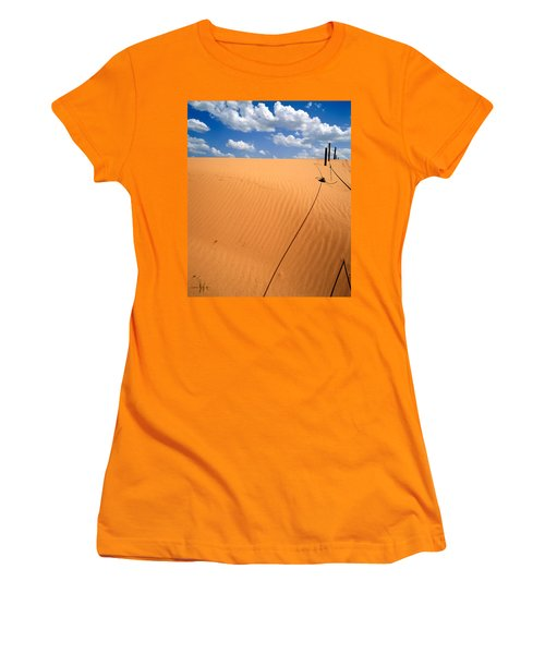 Dunes And Clouds Women's T-Shirt (Athletic Fit)