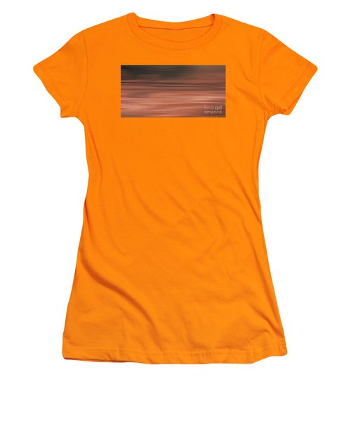 Women's T-Shirt (Junior Cut) featuring the digital art Abstract Earth Motion Soil by Linsey Williams