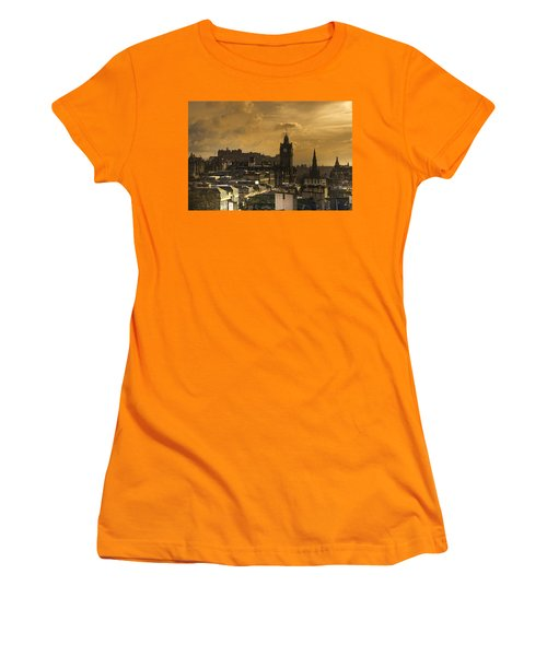 Edinburgh Dusk Women's T-Shirt (Athletic Fit)