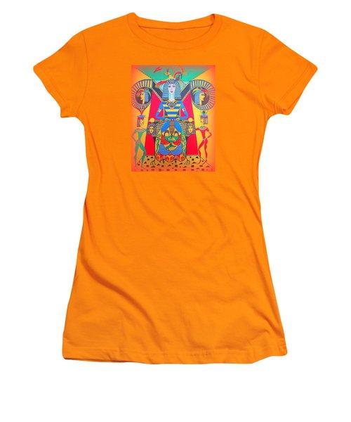 Women's T-Shirt (Junior Cut) featuring the painting Eleonore Friend Princess Jacqueline by Marie Schwarzer
