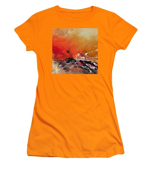 Women's T-Shirt (Junior Cut) featuring the painting Emotion 2 by Ismeta Gruenwald