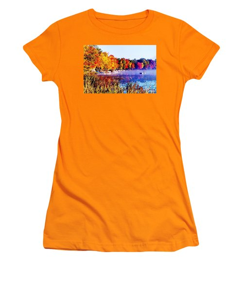 Women's T-Shirt (Junior Cut) featuring the photograph Fall Splendor Of Mid-michigan by Daniel Thompson
