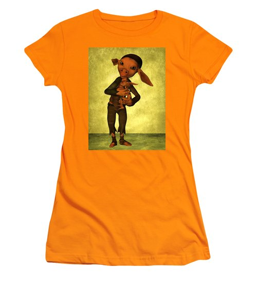 Women's T-Shirt (Junior Cut) featuring the digital art Father And Son by Gabiw Art