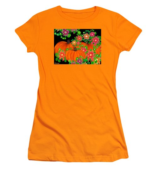 Fiesta Pumpkins Women's T-Shirt (Junior Cut) by Christine Fournier