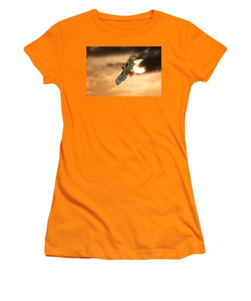 Women's T-Shirt (Junior Cut) featuring the photograph Firebird by Jim Garrison
