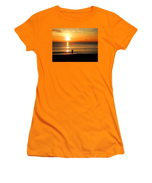 Fishing At Sunrise Women's T-Shirt (Athletic Fit)