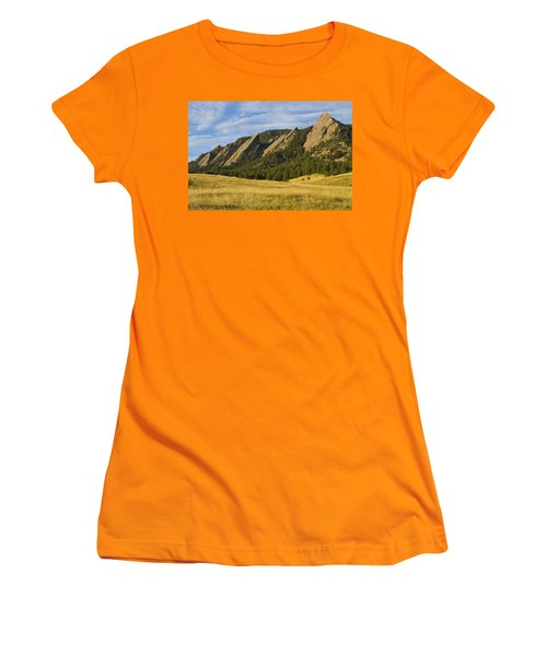Flatiron Morning Light Boulder Colorado Women's T-Shirt (Athletic Fit)