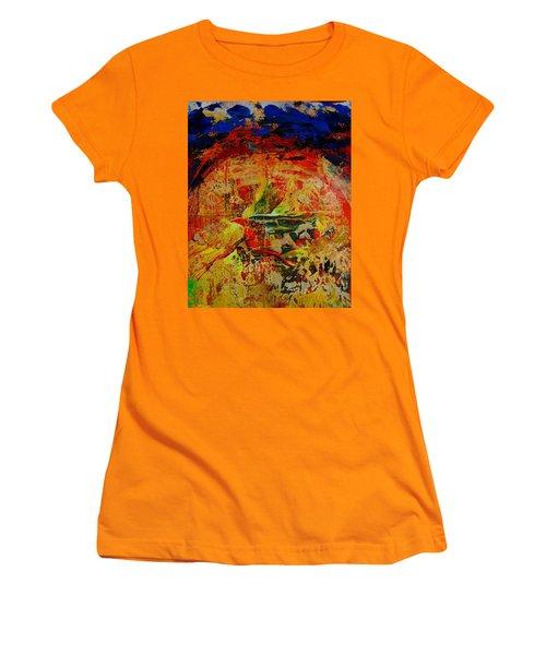 Free Bird Women's T-Shirt (Junior Cut) by Jean Cormier