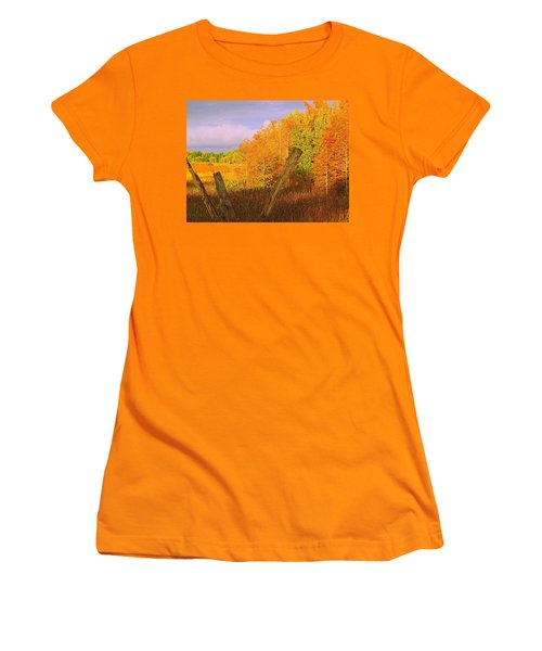 Women's T-Shirt (Junior Cut) featuring the photograph Florida Wetlands  by David Mckinney