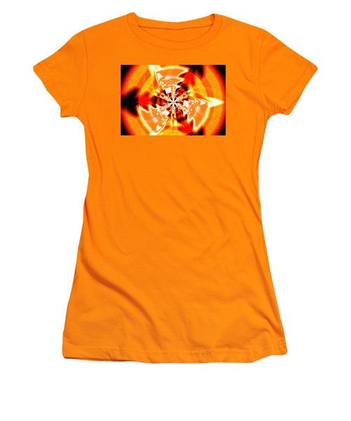 Women's T-Shirt (Junior Cut) featuring the drawing Flower Vectors Of Life by Derek Gedney