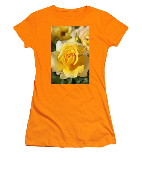 Flower-yellow Rose-delight Women's T-Shirt (Athletic Fit)