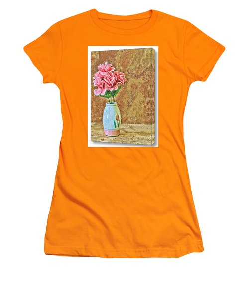 Flowers In Crayon- No Longer Available Women's T-Shirt (Athletic Fit)