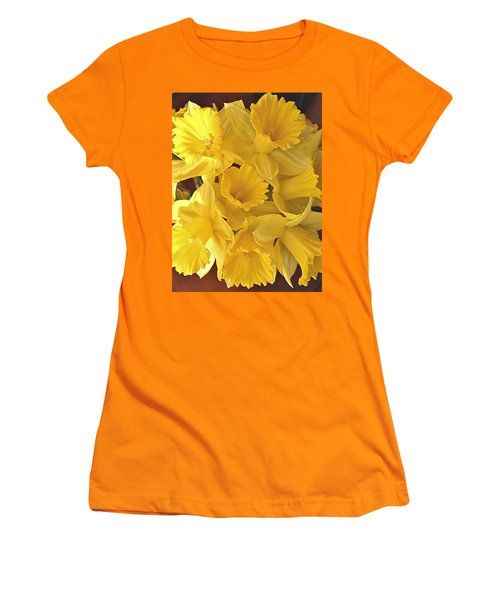 Women's T-Shirt (Junior Cut) featuring the photograph Flurry Of Daffodils by Diane Alexander