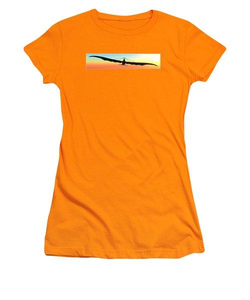 Women's T-Shirt (Junior Cut) featuring the digital art Free... by Tim Fillingim