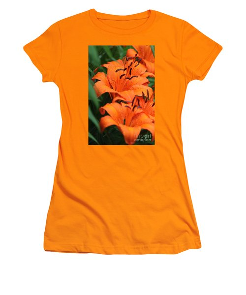 Freshly Showered Tiger Lilys Women's T-Shirt (Athletic Fit)