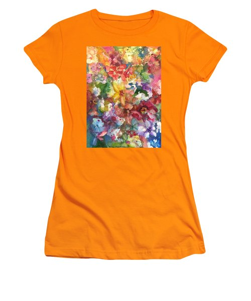 Garden - The Secret Life Of The Leftover Paint Women's T-Shirt (Junior Cut) by Anna Ruzsan
