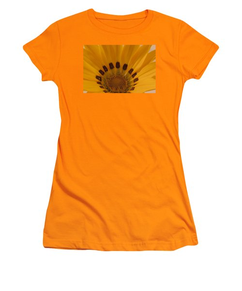 Gazania Stamen Macro Women's T-Shirt (Junior Cut) by Sandra Foster