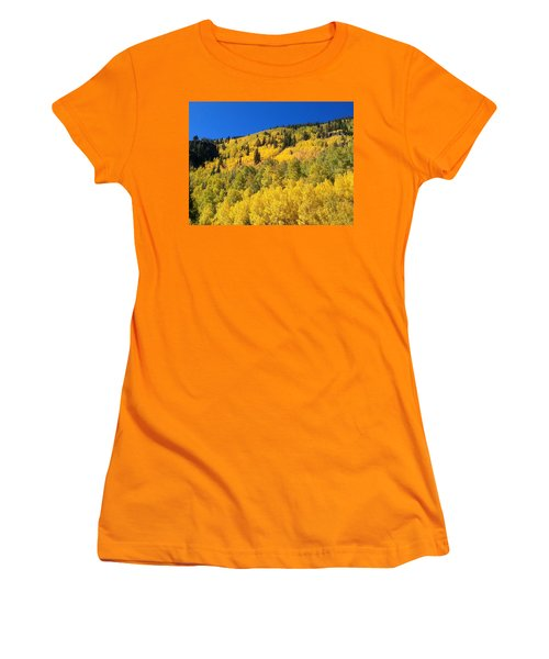 Women's T-Shirt (Junior Cut) featuring the photograph Going Gold by Fortunate Findings Shirley Dickerson