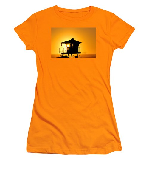 Women's T-Shirt (Junior Cut) featuring the photograph Golden Hour by Tammy Espino