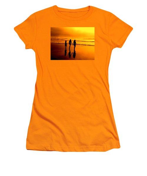 Women's T-Shirt (Junior Cut) featuring the photograph Golden Sands  by Micki Findlay