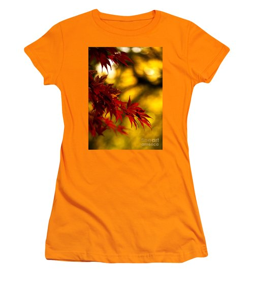 Graceful Leaves Women's T-Shirt (Junior Cut) by Mike Reid