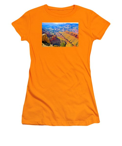 Grand Canyon In Vivid Color Women's T-Shirt (Junior Cut) by Jim Hogg