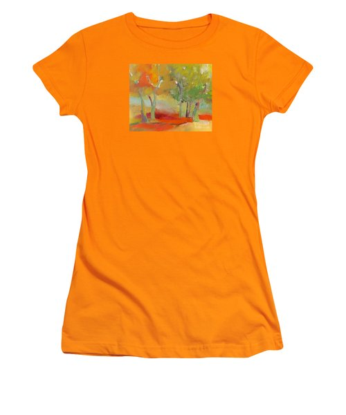 Green Trees Women's T-Shirt (Junior Cut) by Michelle Abrams