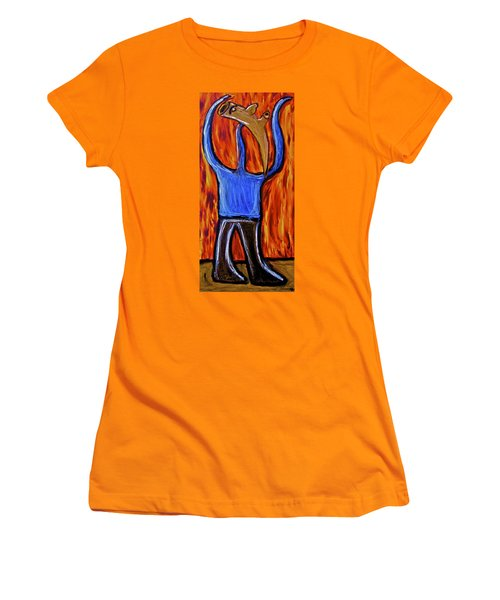 Women's T-Shirt (Junior Cut) featuring the painting Happiness 12-002 by Mario Perron