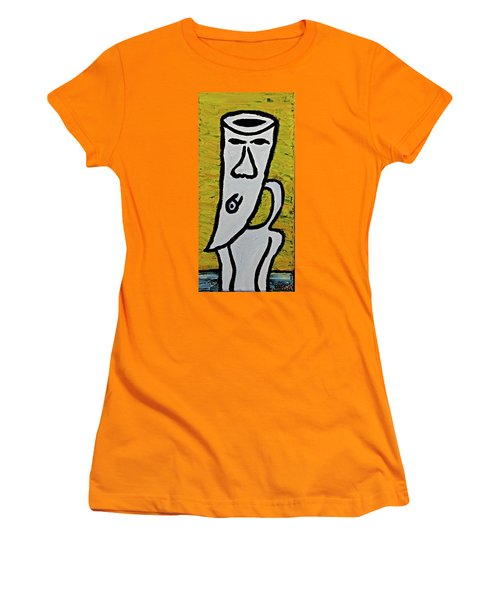 Women's T-Shirt (Junior Cut) featuring the painting Happiness 12-003 by Mario Perron