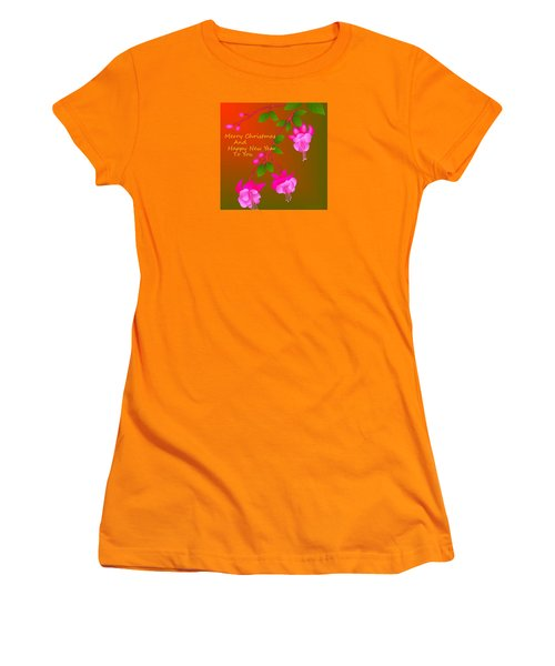 Women's T-Shirt (Junior Cut) featuring the digital art Happy Holidays by Latha Gokuldas Panicker