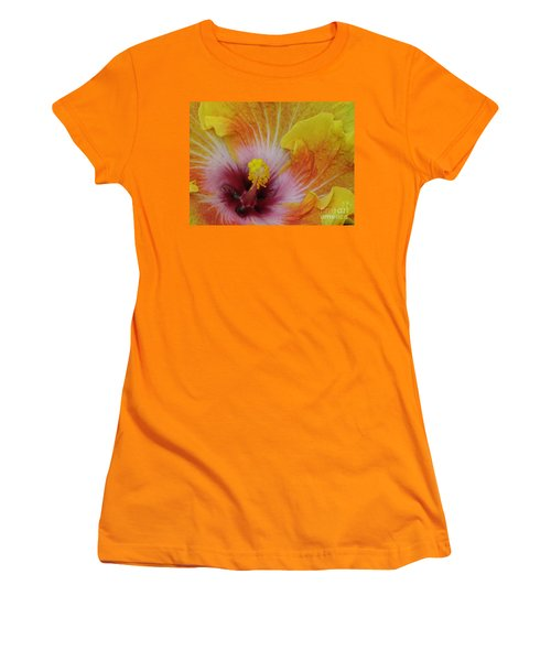Women's T-Shirt (Junior Cut) featuring the photograph Hibiscus by Tam Ryan