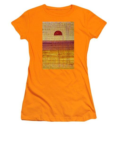 High Desert Horizon Original Painting Women's T-Shirt (Junior Cut) by Sol Luckman